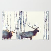 elk Area & Throw Rugs featuring Elk // Follow by Amy Hamilton