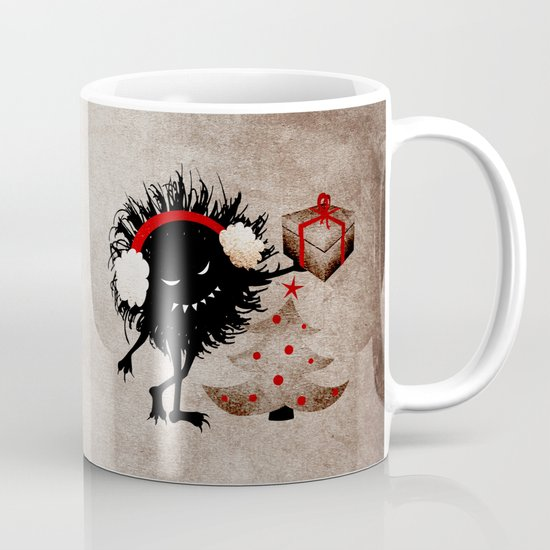 Evil Bug Gives Christmas Present Mug