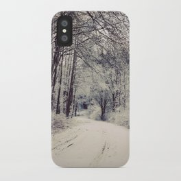 Snowy forest iPhone Case