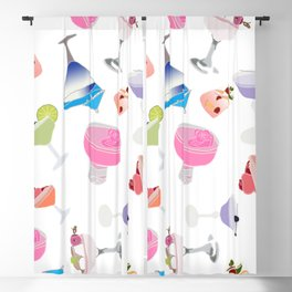 Cocktails Drinks Fun Pattern Blackout Curtain