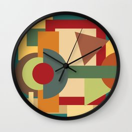 Abstract geometric composition study- Picture Frame Wall Clock