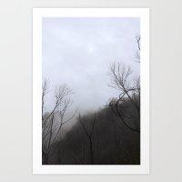 Gloomy Moon Art Print
