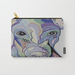 Greyhound in Denim Colors Carry-All Pouch