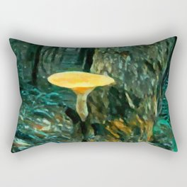 Mushroom Painting Rectangular Pillow