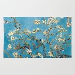 Almond Blossom Vincent Van Gogh Blue Rug