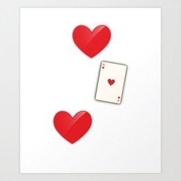 I Love This Game Poker Hearts Gambling Art Print