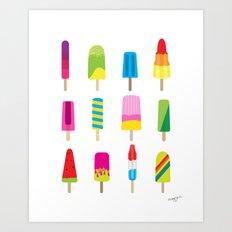 Popsicles Art Print
