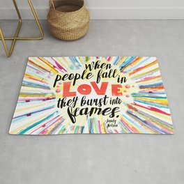 Ill Give You The Sun quote design Rug