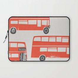 London Double Decker Red Bus Laptop Sleeve