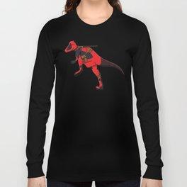 Deadpachycepoolosaurus - Superhero Dinosaurs Series Long Sleeve T-shirt