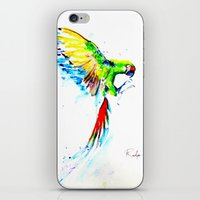 military iPhone & iPod Skins featuring Military Macaw by ARealpe