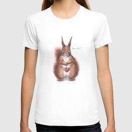 Squirrel heart love T-shirt