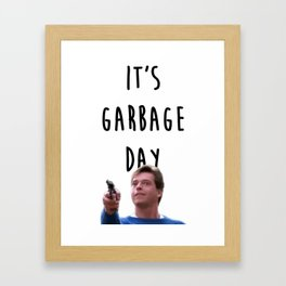 Garbage day Framed Art Print
