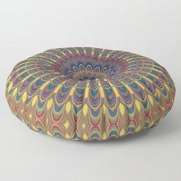 Bohemian oval mandala Floor Pillow