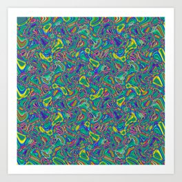 Abstract BZZ Art Print