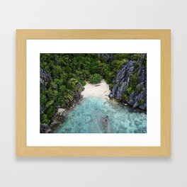 Isolated Beach Framed Art Print