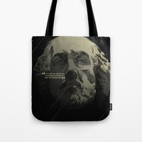 shakespeare Tote Bags featuring Shakespeare / Destiny by MORPHEUS