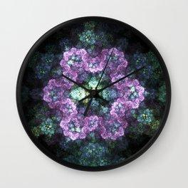 Electric Snowflake Wall Clock