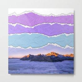 Mountain layers Metal Print