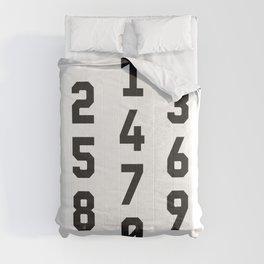 Typography Numbers #2 Comforters