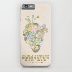 A Traveler's Heart + Quote iPhone 6s Slim Case