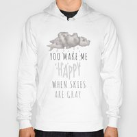 decal Hoodies featuring You Make Me Happy by Charlene McCoy