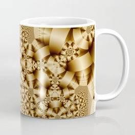 Golden shapes and patetrns in 3-D Coffee Mug