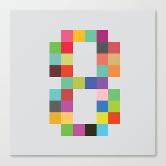 Eight Bit Canvas Print