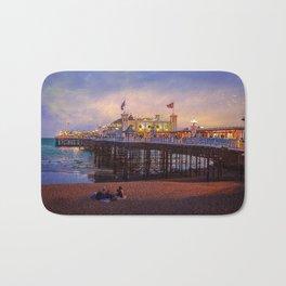 Brighton Pier Twilight Bath Mat