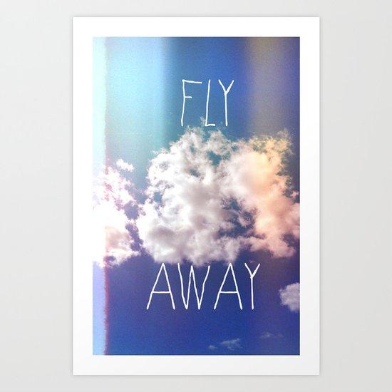 fly away in the sky Art Print