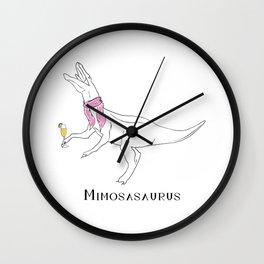 Mimosasaurus in Trendy Pink Wall Clock