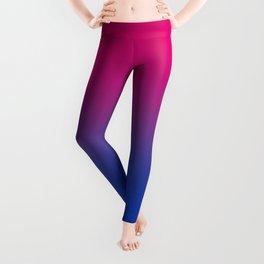 Bisexual Flag Blur Leggings