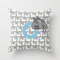 g for gargoyle Throw Pillow