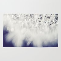 dandelion Area & Throw Rugs featuring Dandelion  by Juste Pixx Photography