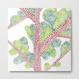 Red & green tree Metal Print