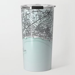 Baku, Azerbaijan, White, City, Map Travel Mug
