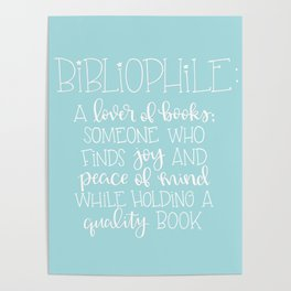 Bibliophile Definition Poster