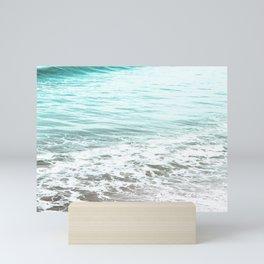 Travel photography wave I aqua ocean wave Mini Art Print