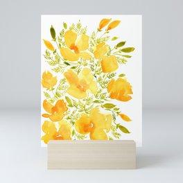 Watercolor California poppies (Quad set, #2) Mini Art Print