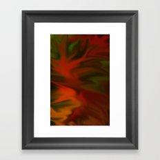 Flaming Red Framed Art Print