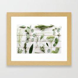 Green Botanical Flowers Framed Art Print