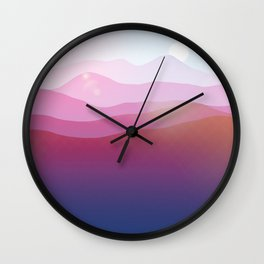 Magic Mountains N.5 Wall Clock