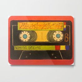 """The Old Mix-Tape"" Metal Print"