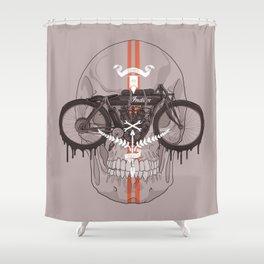 Board Track Racer Shower Curtain