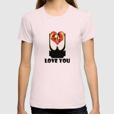Eye Love You Womens Fitted Tee Light Pink MEDIUM