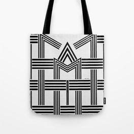Black and White M Tote Bag