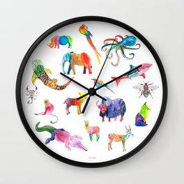 Technicolor Animal Kingdom Wall Clock