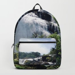 Sunny Mesmerising Waterfall. Backpack