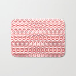 Dividers 07 in Red over White Bath Mat