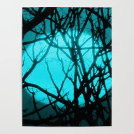 Teal Sunset Poster